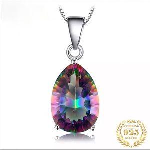 5 CT Natural Rainbow Topaz&Silver Pendant 10000500
